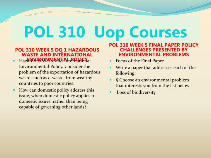 POL 310 Course Begins Success pol31com