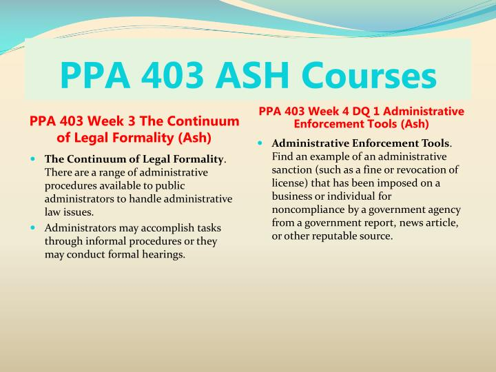 ppa 403 week 3 the continuum