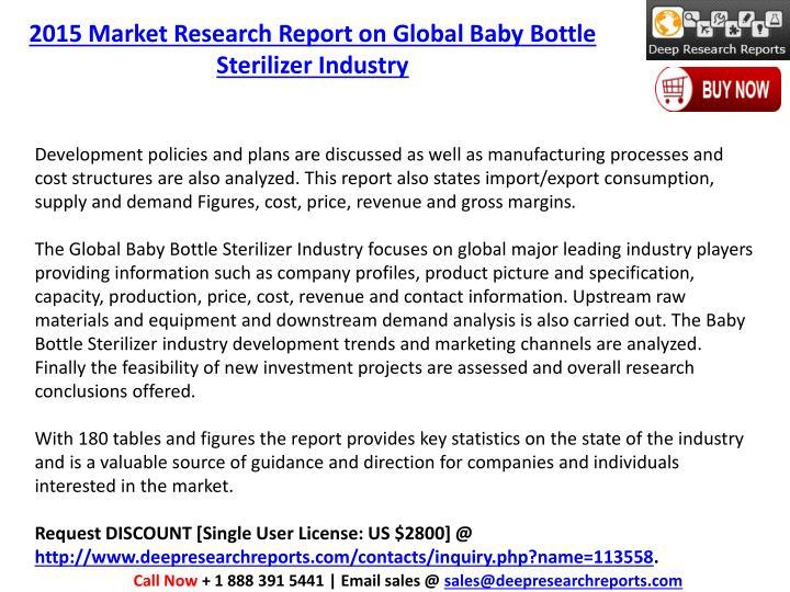 2015 Market Research Report on Global Baby Bottle Sterilizer Industry