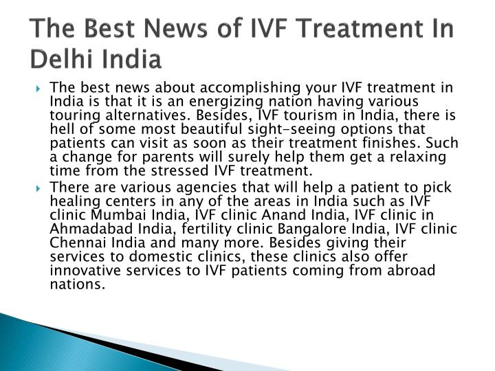 the best news of ivf treatment in delhi india n.