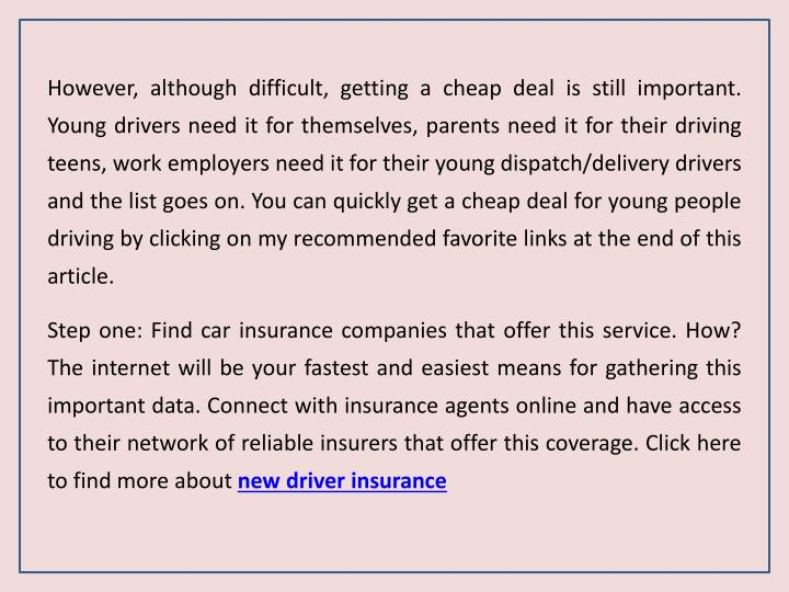 cheapest insurance for delivery drivers