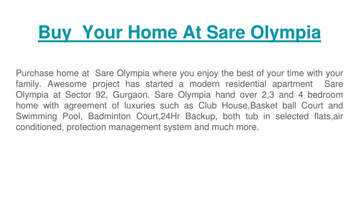 buy your home at sare olympia n.