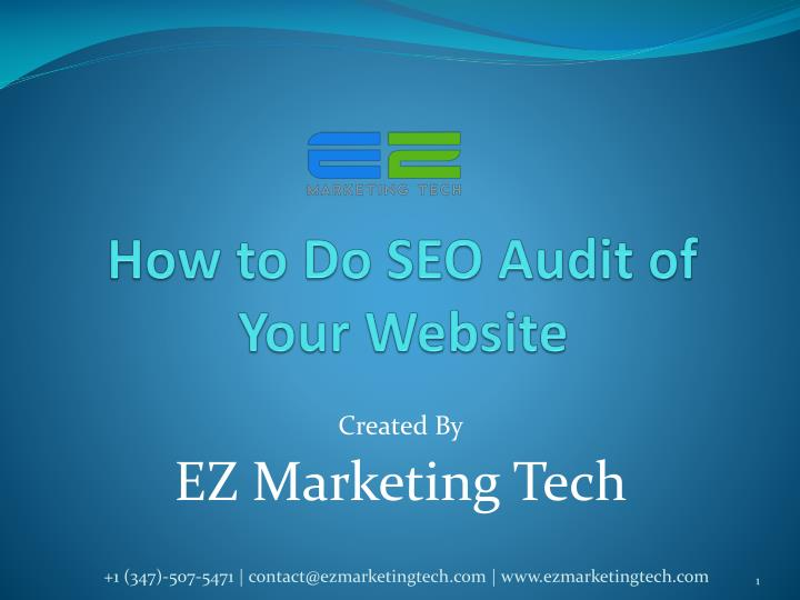 how to do seo audit of your website n.