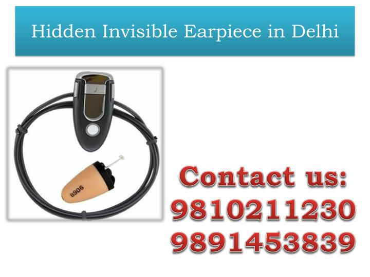 hidden invisible earpiece in delhi n.