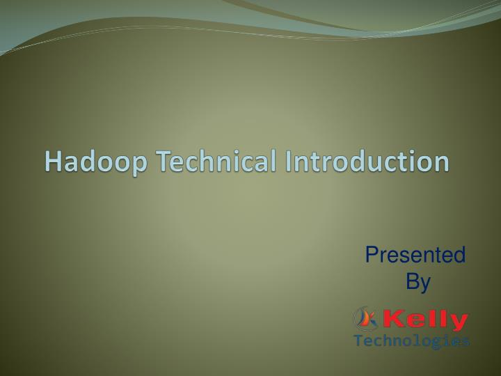 hadoop technical introduction n.