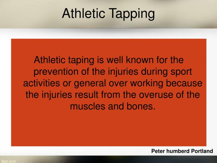 Athletic tapping