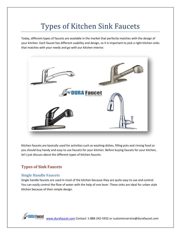 PPT - Types of Kitchen Sink Faucets PowerPoint Presentation ...