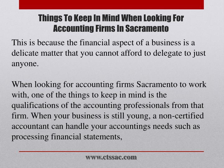 Things to keep in mind when looking for accounting firms in sacramento2