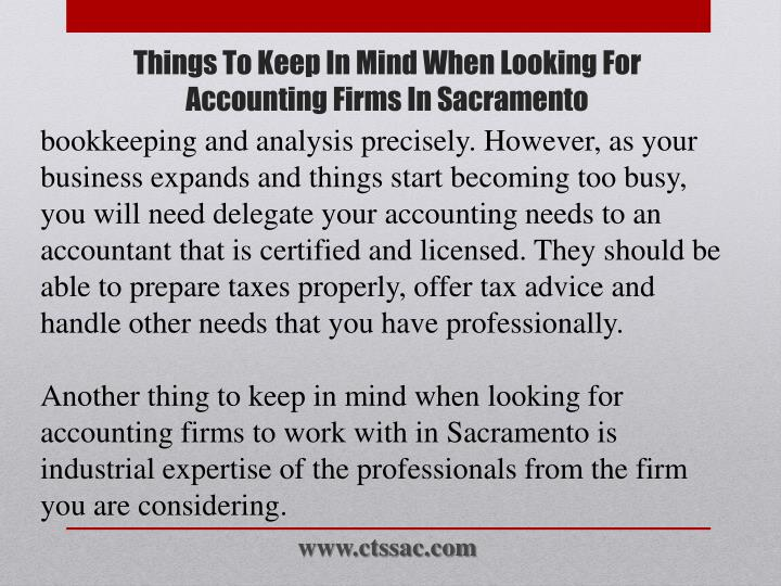 bookkeeping and analysis precisely. However, as your business expands and things start becoming too busy, you will need delegate your accounting needs to an accountant that is certified and licensed. They should be able to prepare taxes properly, offer tax advice and handle other needs that you have professionally.