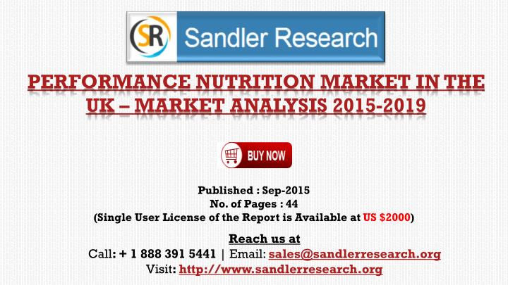 performance nutrition market in the uk market analysis 2015 2019 n.