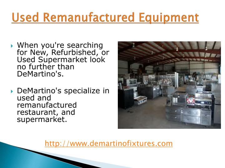 used remanufactured equipment n.