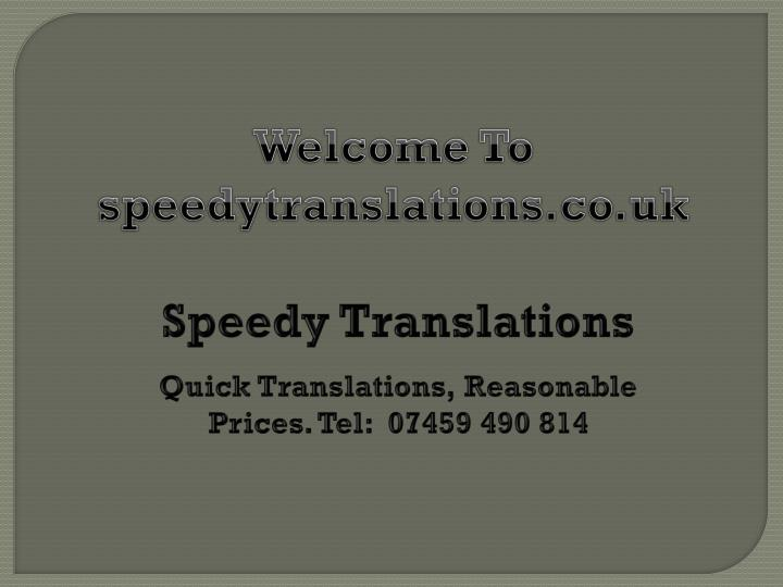 welcome to speedytranslations co uk n.