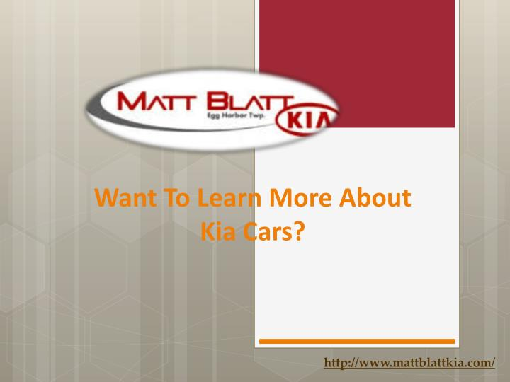 want to learn more about kia cars n.