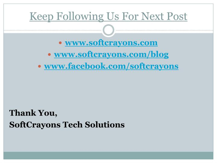 Keep Following Us For Next Post