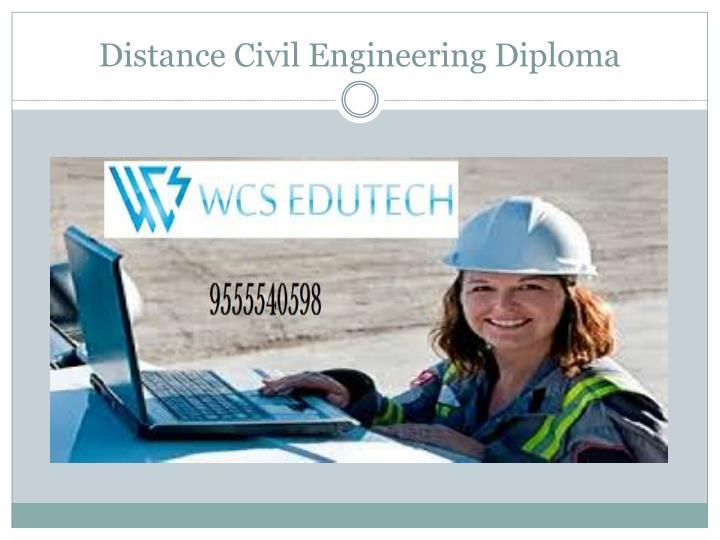 Distance civil engineering diploma