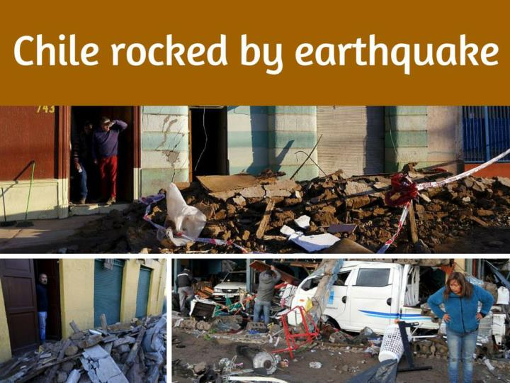 chile rocked by earthquake