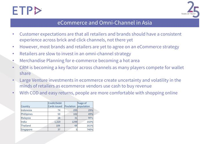 eCommerce and Omni-Channel in Asia