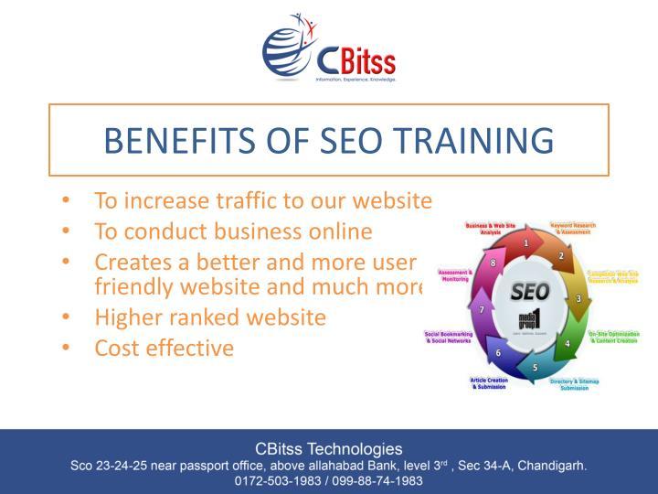 Benefits of seo training