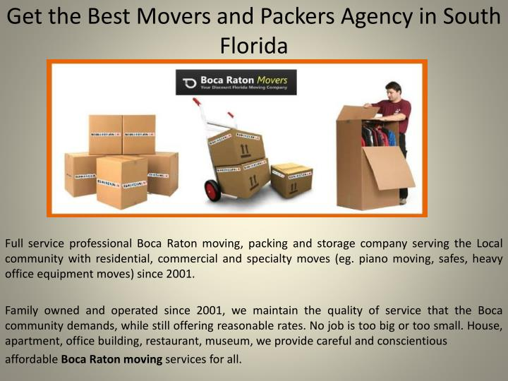 get the best movers and packers agency in south florida n.