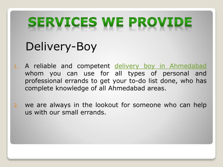 Delivery-Boy