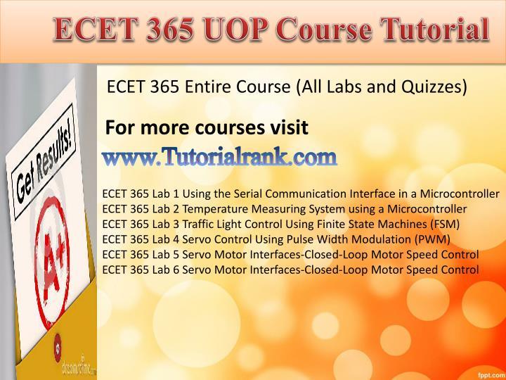Ecet 365 uop course tutorial
