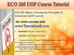 eco 205 uop course tutorial1