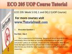 eco 205 uop course tutorial10