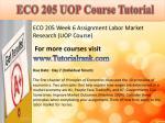 eco 205 uop course tutorial11