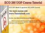 eco 205 uop course tutorial17