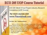 eco 205 uop course tutorial18