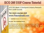 eco 205 uop course tutorial4