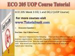 eco 205 uop course tutorial6