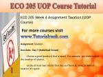 eco 205 uop course tutorial7