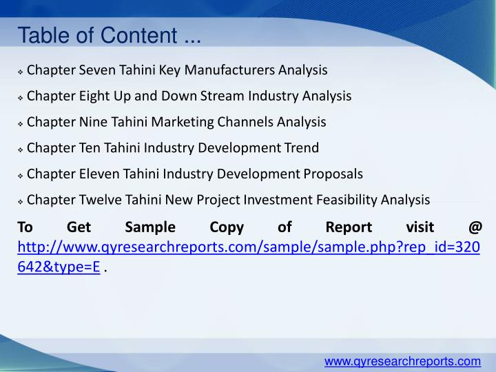 Table of Content ...