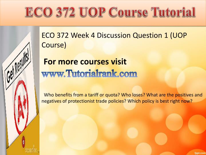 eco 372 week 5 power point Eco 372 week 4 team assignment short-run economic fluctuations (2 ppt) team is familiar with or an organization where a team member currently works.