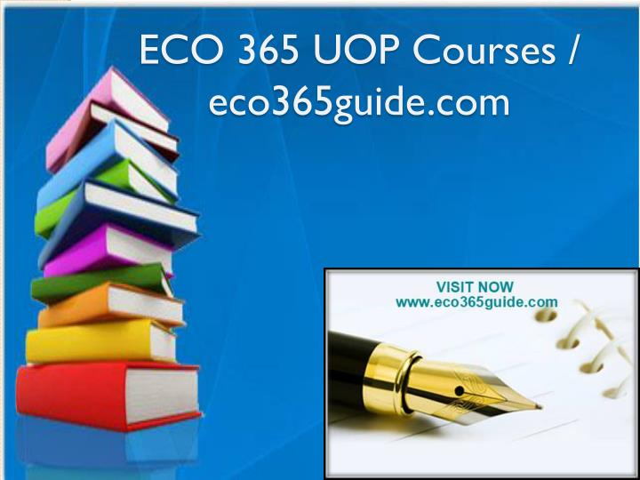 eco 365 uop courses eco365guide com n.