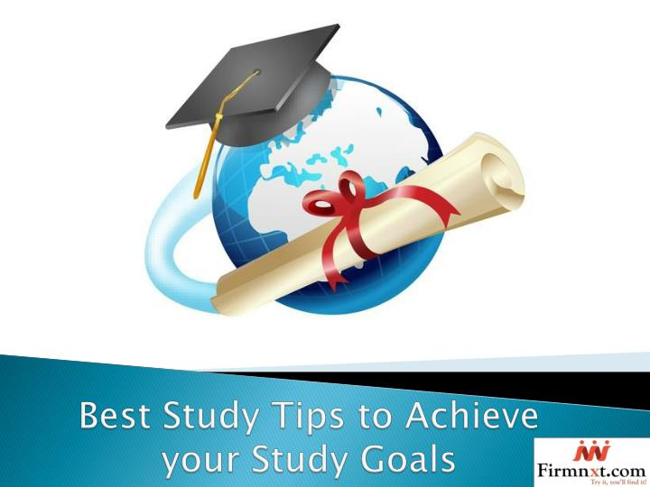 best study tips to achieve your study goals n.