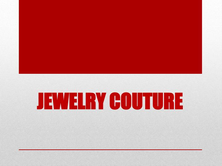 jewelry couture n.