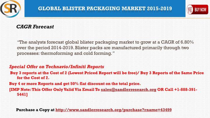 Global blister packaging market 2015 20191