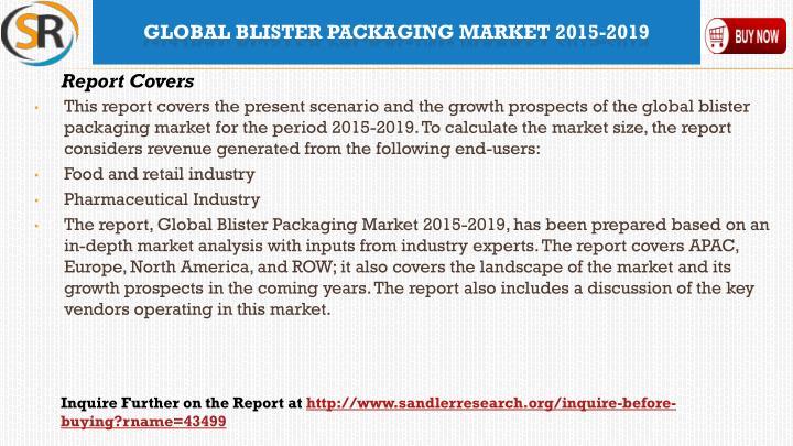 Global blister packaging market 2015 20192