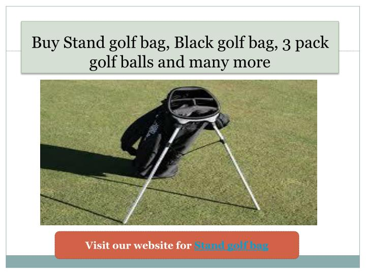 Buy s tand golf bag black golf bag 3 pack golf balls and many more