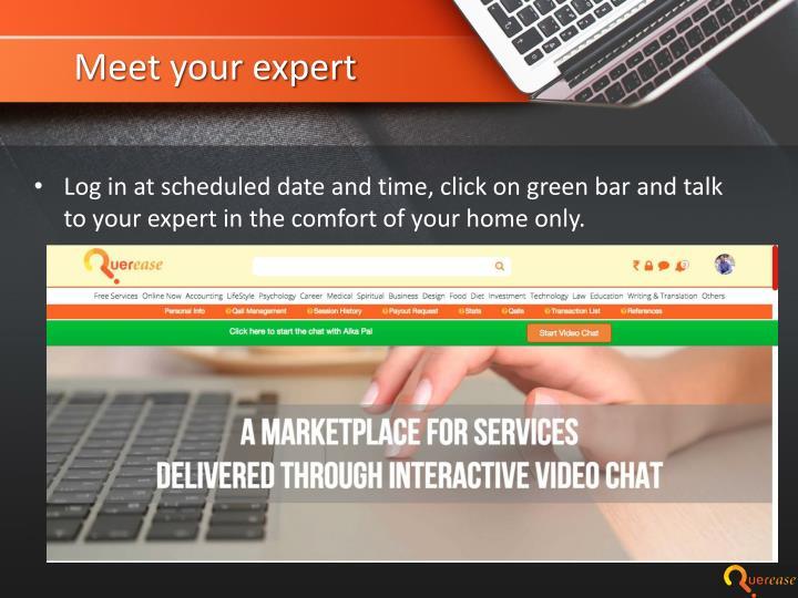 Meet your expert