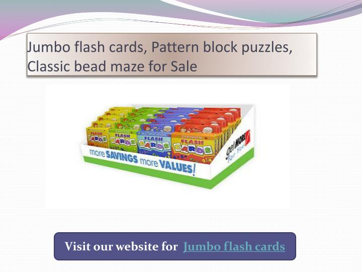 jumbo flash cards pattern block puzzles classic bead maze for sale n.