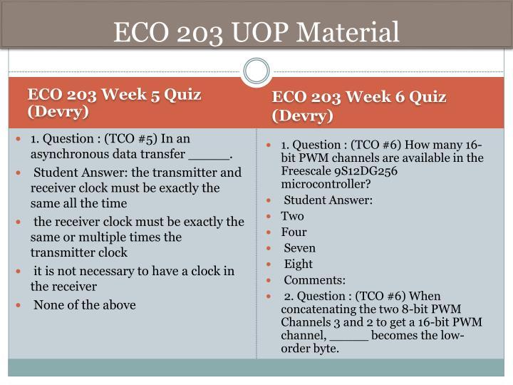 ECO 203 UOP