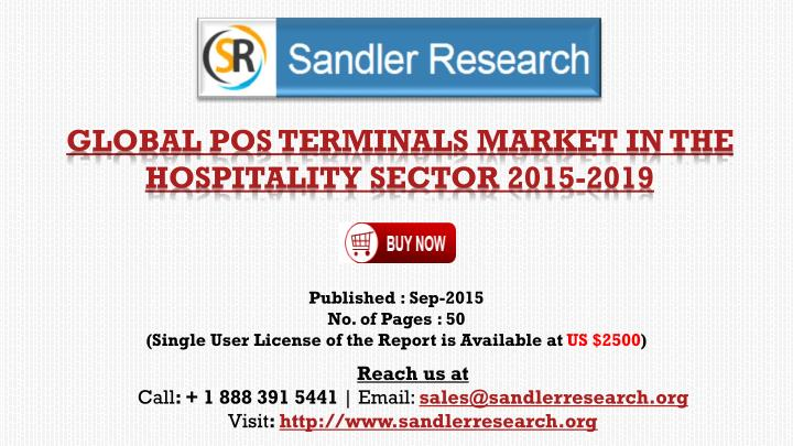 global pos terminals market in the hospitality sector 2015 2019 n.