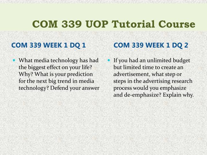 Com 339 uop tutorial course1