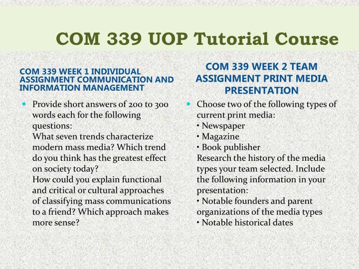 Com 339 uop tutorial course2