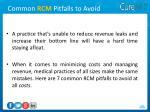 common rcm pitfalls to avoid1