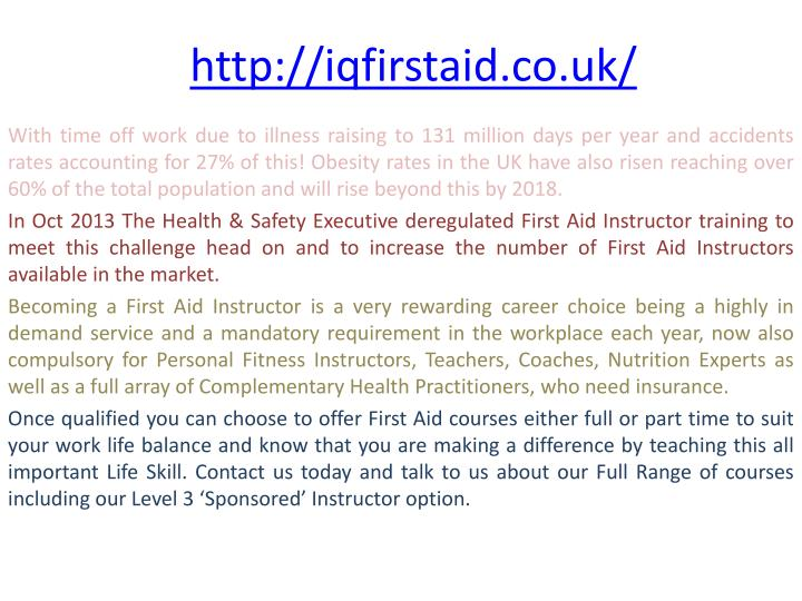 http iqfirstaid co uk n.