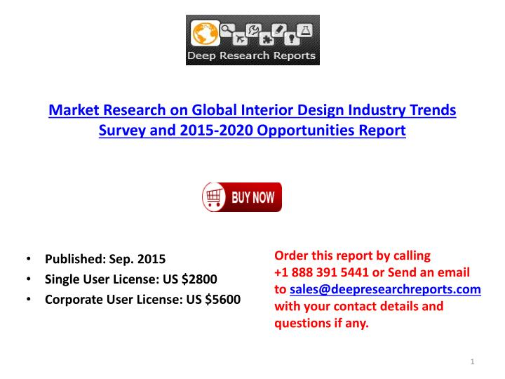 Market Research On Global Interior Design Industry Trends Survey ...